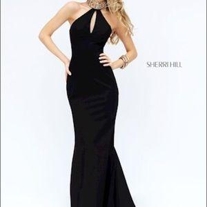 Sheri hill 50594 black gown
